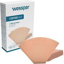Papier-Kaffeefilter von Wessper 100 Stück, 1x4 (Grösse 4), naturbraun (100)