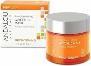 Andalou Naturals Brightening, Pumpkin Honey Glycolic, 1.7 Oz