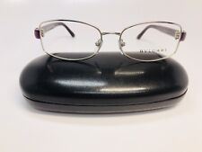New Authentic BVLGARI BV 2135B 381 Silver & Violet Eyeglasses 54mm with Case