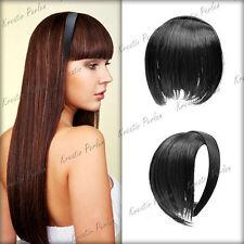 Schwarze glatte Markenlose Perücken & Haarteile aus Kunsthaar-Kunst