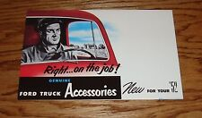 1952 Ford Truck Accessories Foldout Sales Brochure 52 Pickup