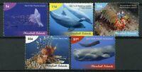 Marshall Islands 2019 MNH Marine Life Definitives 5v Set Fish Whales Stamps