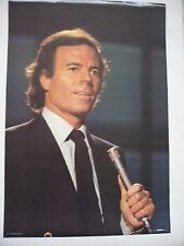 JULIO IGLESIAS  AUTHENTIC 1983 POSTER