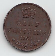 Very Rare 1853 PROOF Half Farthing  - Queen Victoria