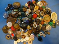 Vintage & Antique Button Mixed Lot 9 oz Plastic Glass MOP Bone Celluloid Metal +