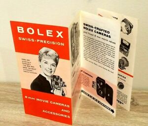 ORIGINAL BOLEX  8mm cameras brochure catalog C8 B8 H8 M8 Kern-Pillard lenses '56