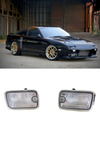 NEW~1991-1998~NISSAN SILVIA 180SX RPS13 Front Bumper Crystal Clear SIGNAL LIGHTS