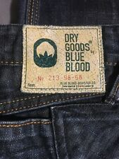 Dry Goods By Blue Blood Mens Jeans Target 31x34 #213-98-58 Denim Made In London