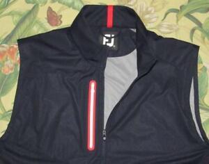 Mens FOOTJOY Navy Blue Full Zip Golf Vest XL