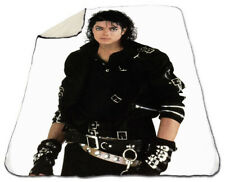 "Michael Jackson Blanket Winter 60"" x 80"" Queen Size NEW Sherpa Fleece Bad"