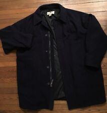 Woolrich Men's Wool Blend ~ Nylon Lined ~Navy Blue ~ Jacket Coat Sz Medium XL