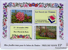 BLOC FEUILLET BF15 NEUF PARC FLORAL  LUXE AA1