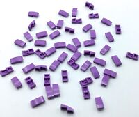LEGO LOT OF 55 NEW PURPLE ROUNDED SLOPED PARTS TAPERD BRICK PIECES