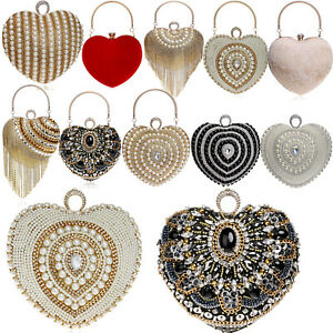 Pearls Handbags Beads Bridal Bags Wedding Clutches Evening Womens Handbags Purse