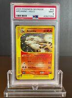 Arcanine Holo White Flames Pokemon Card 2003 e-Skyridge H2/H32 BGS PSA 9 Mint