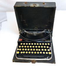 1924 Remington Portable #1 type writer with case. #N44380J retractable keys.