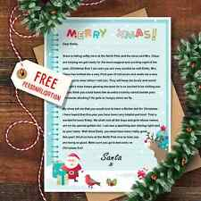 Personalised Christmas Letter From Santa Claus With Matching Envelope Design 4