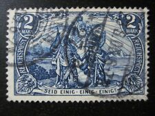 DEUTSCHES REICH Mi. #64II used Germania stamp! CV $102.50