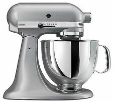 Kitchen Aid Stand Mixer Tilt 4.5 - Quart KSM85PBSM All Metal Silver Metallic