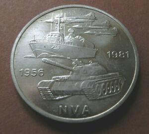 10 Mark DDR GDR 25 Jahre NVA 1956 - 1981 Gedenkmünzen 1981 A