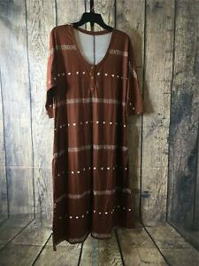 Humble Hilo Womens One Size Fits Most Coffee Maternity/Nursing Arena Dress NWOT