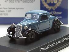 BOS Citroen Traction Avant Faux Cabrio 1934 blau/schw. - 87520 - 1:87