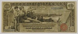1896 B $1 Large Size Educational Silver Certificate - Avg. Circulated