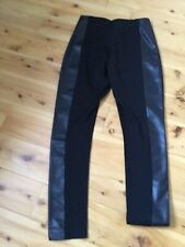 Kenneth Cole Black Faux  Leather Insert Spandex Legging Pant Womens Size 10