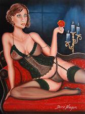 Doro Hagen Öl Gemälde Öl Zeichnung 30 x 40 cm Papier Malerei Erotik Kunst