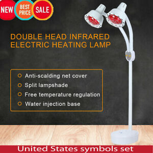 Double Head Type Infrared Red Heating Therapeutic Light Pain Relief Therapy Lamp