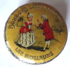 rare ancien boité à bonbons John Tavernier tôle lithographiée 1900 en bon état