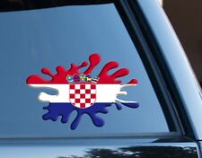 Croatia Flag Splat Decal Sticker Car Van Laptop suit case Rugby Football travel