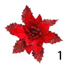 Christmas Simulation Flowers Shiny Xmas Tree Decoration Festival Ornaments Decor