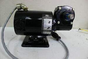 B&B Motor GearMotor 130V 1.5 amp 1/6 HP 2500 rpm Continuous Duty Ratio 20:1 New