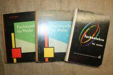 3 alte Fachbücher Maler, Farbe, Farbgestaltung, Raumgestaltung, DDR 1961