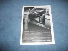 """1964 Chevy Corvair Monza Spyder Vintage Ad """"You Couldn't Get An Automatic..."""""""
