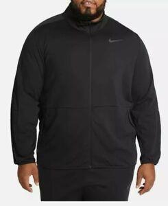 3XL-T Nike Dri-Fit Men's Black Training Warm Up Full-Zip Mock Neck Track Jacket