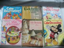 Lot of 6 WILTON CAKE DECORATING book yearbooks 1971-1996 wedding Mickey birthday