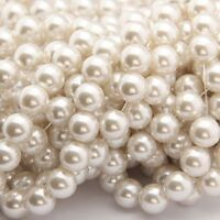 Charming Smooth White Pearl Round Loose Spacers Beads Jewelry Making 6/8/10mm