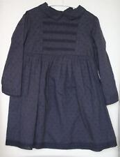 BONPOINT GIRLS NAVY BLUE COTTON DRESS 4 YEARS