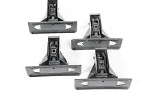Set of four used Thule 400xtr towers - for bare roofs - with locks and keys