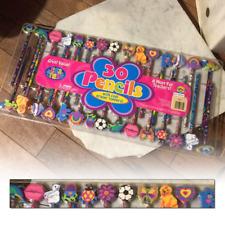 lisa frank 30 Pencils set with eraser toppers Cute Pop 90s Rare Unopened Japan