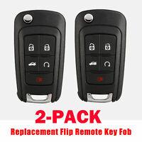 Pair Replacement for Chevy 2010-16 Camaro Cruze Equinox Malibu Remote Key Fob 5b