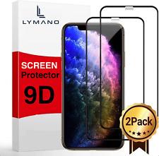 2x 9D Glas für iPhone 11 11 Pro X Xr Xs Max Panzerfolie Schutzfolie 9h Hartglas