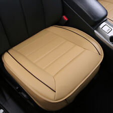 Beige 3D Car Seat Cover PU Leather Full Surround Pad Mat for Auto Chair Cushion
