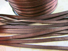"""10 yards Satin Stretch/Elastic Band 1/4"""" Trim 6mm/Spandex Sewing/Lace T174-Brown"""
