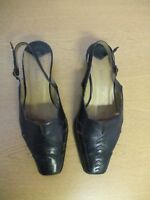 Ladies Court Shoes Van Dal navy leather sling-back, UK 6 D, EUR 39, used 3422