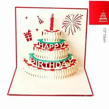 Day Card Postcard 3D Cake Greeting Card Home Gift