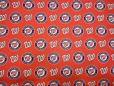 WASHINGTON NATIONALS MLB FABRIC 100% COTTON  BRAND NEW DESIGN 1 REMNANT  17""