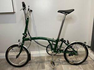 Brompton M6L Folding Bike *Global Shipping* *Low Mileage* *British Racing Green*